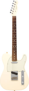 Musical Instruments:Electric Guitars, 2016 Fender Telecaster Olympic White Solid Body Electric Guitar, Serial #US 16018389.. ...