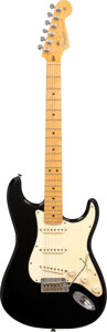 Musical Instruments:Electric Guitars, 2012 Fender Stratocaster Black Solid Body Electric Guitar,...