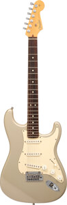 Musical Instruments:Electric Guitars, 2000 Fender Stratocaster Inca Silver Solid Body Electric Guitar, Serial #ZO 148577.. ...