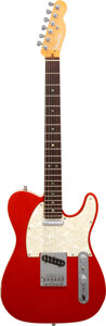 Musical Instruments:Electric Guitars, 2002 Fender Telecaster Custom Candy Tangerine Solid Body Electric Guitar, Serial #DZ2035169.. ...