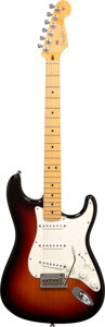 Musical Instruments:Electric Guitars, 2011 Fender Stratocaster Sunburst Solid Body Electric Guitar, Serial #US11203022.. ...