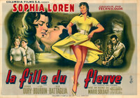 "Woman of the River (Columbia, 1955). Fine+ on Linen. French Double Grande (63"" X 90.25"") Jean Mascii Artwork..."