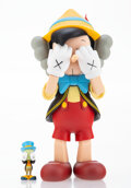 Collectible, KAWS X Disney. Pinocchio & Jiminy Cricket, 2010. Painted cast vinyl. 10-1/4 x 5 x 4-1/2 inches (26 x 12.7 x 11.4 cm) (Pi...