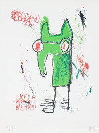 Edgar Plans (b. 1977) Green Mouse Retrat, 2008 Serigraph in colors on paper 47 x 35 inches (119.4 x 88.9 cm) (sheet)