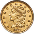 1839-O $2 1/2 Low Date, Close Fraction, HM-2, R.4, AU55 NGC. CAC. A pleasing Choice AU example of this conditionally elu...
