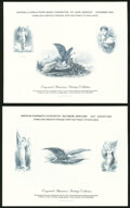 Group of Eight Engraved Souvenir Cards. Extremely Fine-About Uncirculated. ... (Total: 8 items)