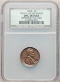 Errors, 1968 1C Lincoln Cent -- Struck 10% Off Center, Improperly Cleaned -- NCS. Unc Details.. From