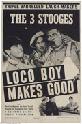 Movie Posters:Comedy, Loco Boy Makes Good (Columbia, 1942)....