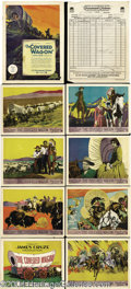 Movie Posters:Western, The Covered Wagon (Paramount, 1923).... (9 items)