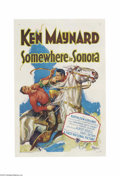 Movie Posters:Western, Somewhere in Sonora (First National, 1927)....