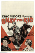 Movie Posters:Western, Billy the Kid (MGM, 1930)....