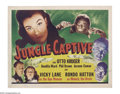 Movie Posters:Horror, The Jungle Captive (Universal, 1945)....
