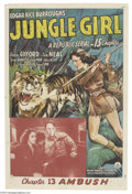 Movie Posters:Serial, Jungle Girl (Republic, 1941).... (2 pieces)