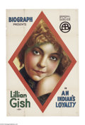 Movie Posters:Western, An Indian's Loyalty (Biograph Studios, R-1916)....