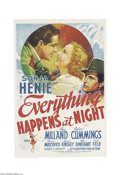 Movie Posters:Drama, Everything Happens at Night (20th Century Fox, 1939)....