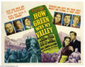 Movie Posters:Drama, How Green Was My Valley (20th Century Fox, 1941)....