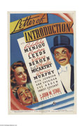 Movie Posters:Drama, Letter of Introduction (Universal, 1938)....