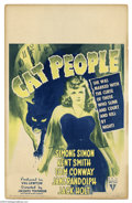 Movie Posters:Horror, Cat People (RKO, 1942)....