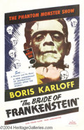 Movie Posters:Horror, The Bride of Frankenstein (Universal, R-1953)....