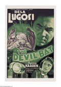 Movie Posters:Horror, Devil Bat (PRC, 1940)....