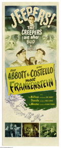 Movie Posters:Comedy, Abbott and Costello Meet Frankenstein (Universal, R1956)....