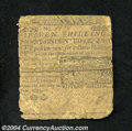 Colonial Notes:Delaware, Delaware June 1, 1759 15s Fine, Sewn. Sewn back together ...