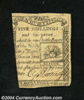 Colonial Notes:Massachusetts, Massachusetts 1779 5s6d Very Fine. The face plate of this ...