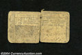 Colonial Notes:New Jersey, New Jersey April 12, 1760 15s Fine, Sewn. Loosely sewn ...