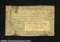 Colonial Notes:Pennsylvania, Pennsylvania April 10, 1777 1s Very Fine. There is a small ...