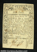 Colonial Notes:Rhode Island, Rhode Island May, 1786 9d About New. One light fold and a ...