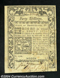 Colonial Notes:Rhode Island, Rhode Island 40s May 1786 About New. Trimmed in at the ...