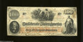 Confederate Notes:1862 Issues, T41 $100 1862. The CSA in script letters watermark is ...