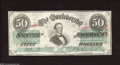 Confederate Notes:1863 Issues, T57 $50 1863. Very Fine-Extremely Fine. This bright ...