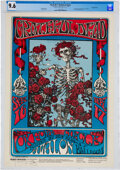 """Music Memorabilia:Posters, Grateful Dead 1966 """"Skeleton & Roses"""" Concert Poster FD-26 Graded 9.6 and Signed by Stanley Mouse...."""