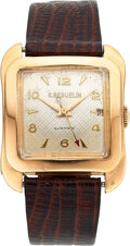 Timepieces:Wristwatch, G. Beguelin, Large 18k Rose Gold Automatic, circa 1940's. ...