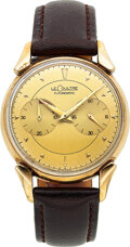 Timepieces:Wristwatch, LeCoultre, Futurematic with Fancy Lugs, Gold Filled, Circa 1950's. ...