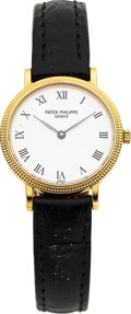 Timepieces:Wristwatch, Patek Philippe, Very Fine Lady's Gold Calatrava, Ref. 4819...