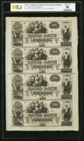 Obsoletes By State:Louisiana, New Orleans, LA- Canal Bank $20-$20-$20-$20 18__ Uncut Sheet PCGS Banknote Choice AU 58.. ...