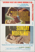 """Movie Posters:Drama, Saturday Night and Sunday Morning & Other Lot (Continental, 1961). Folded, Overall: Fine/Very Fine. One Sheets (2) (27"""" X 41... (Total: 2 Items)"""