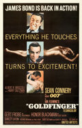 "Movie Posters:James Bond, Goldfinger (United Artists, 1964). Fine on Linen. One Sheet (27"" X 41.5"") Glossy Style.. ..."