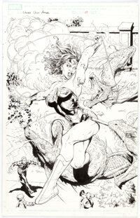 Gary Frank and Jon Sibal Wonder Woman Annual Double-Splash Pages 29 and 30 Original Art (DC, 2007).... (Total: 2 Origina...