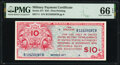 Military Payment Certificates:Series 471, Series 471 $10 PMG Gem Uncirculated 66 EPQ.. ...