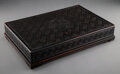 Carvings, A Chinese Carved Hardwood Document Box, Qing Dynasty. 4 x 21-1/4 x 14-1/4 inches (10.2 x 54.0 x 36.2 cm). ...