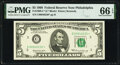 Small Size:Federal Reserve Notes, Fr. 1969-C* $5 1969 Federal Reserve Star Note. PMG Gem Uncirculated 66 EPQ.. ...