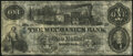 Obsoletes By State:Tennessee, Memphis, TN- Mechanics Bank of Memphis $1 May 12, 1854 Very Fine.. ...