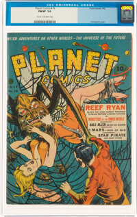 Planet Comics #19 (Fiction House, 1942) CGC FN/VF 7.0 Cream to off-white pages