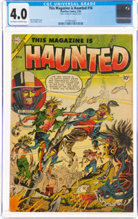 This Magazine Is Haunted #16 (Charlton, 1954) CGC VG 4.0 Off-white to white pages