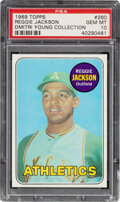Baseball Cards:Singles (1960-1969), 1969 Topps Reggie Jackson Rookie #260 PSA Gem Mint 10--Dmitri Young Collection....
