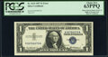 Minor Solvent Smear on Face Error Fr. 1619 $1 1957 Silver Certificate. PCGS Choice New 63PPQ