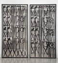 Paintings, RETNA (b. 1979). Untitled, diptych, early 21st century. Acrylic on aluminum. 92-1/2 x 44 inches (235...